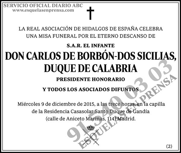Carlos de Borbón-Dos Sicilias, Duque de Calabria
